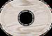 Рамка Овал внутренней монтаж (выбеленный дуб с золотой патиной)
