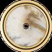 Рамка Palazzo (пластик под белый мрамор/золото 24 карата)