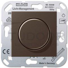 Светорегулятор для светодиодных LED ламп 3-100 Вт, универсальный, 20-400 Вт ламп накаливания и галогенных, мокко