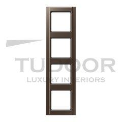 Рамка четверная для горизонтального / вертикального монтажа, мокка