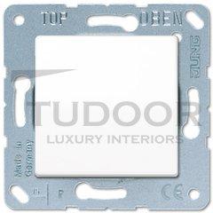 Выключатель одноклавишный, универс. (вкл/выкл с 2-х мест) 10 А / 250 В, пластик белый глянцевый