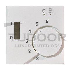Термостат 230 В~ 10А с выносным датчиком, для электрического подогрева пола, пластик белый глянцевый