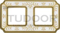 Рамка двойная, для горизонтального/ вертикального монтажа, жемчужно-белый
