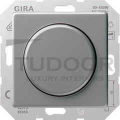 Светорегулятор поворотный 60-600 Вт. для ламп накаливания и галог.220B, нержавеющая сталь