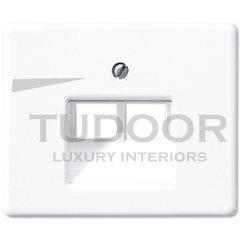 Крышка для сдвоенной телефонной и компьютерной розетки UAE; белая