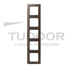 Рамка пятерная для горизонтального / вертикального монтажа, мокка