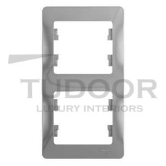 Рамка двойная, для вертикального монтажа, алюминий