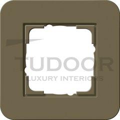 Рамка одинарная для горизонтального/вертикального монтажа, с покрытием Soft Touch, дымчатый/антрацит