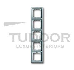 Рамка пятерная, для горизонтального/вертикального монтажа, нержавеющая сталь