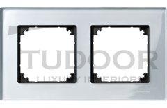 Рамка двойная, для горизонтального/ вертикального монтажа, стекло алмаз