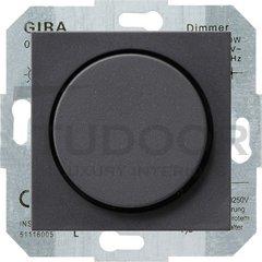 Светорегулятор поворотный 60-400 Вт. для ламп накаливания и галог.220В, пластик антрацит