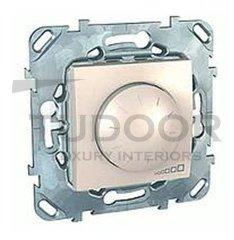 Светорегулятор поворотный 40-400 Вт. для ламп накаливания и галог.220В, пластик кремовый глянцевый