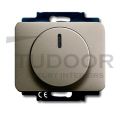 Светорегулятор поворотный 200-1000 Вт. для ламп накаливания и галог.220В, палладий