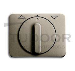 Плата центральная с поворотной ручкой, с маркировкой, для механизма выключателя жалюзи 2712/2713 U и 2722/2723 U, серия alpha exclusive, цвет палладий