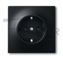 Розетка с заземляющими контактами 16 А / 250 В, автоматические зажимы, черный бархат