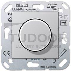 Светорегулятор поворотный 20-525 Вт. для ламп накаливания и галог.220В, пластик под алюминий