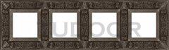 Рамка четверная, для горизонтального/ вертикального монтажа, античное серебро