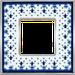 Рамка Vintage Porcelain (голубая лилия/блестящий хром)