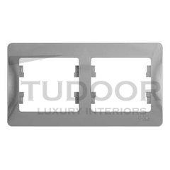 Рамка двойная, для горизонтального монтажа, алюминий