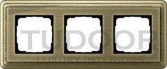 Рамка тройная, для горизонтального/вертикального монтажа, бронза