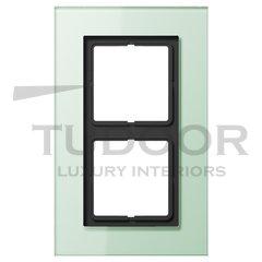Рамка двойная, для горизонтального/ вертикального монтажа, матовое стекло