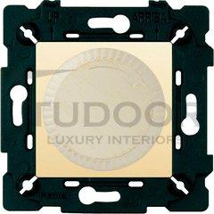Светорегулятор поворотный 40-500 Вт. для ламп накаливания и галог.220В, white decape/бежевый