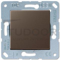Выключатель одноклавишный, универс. (вкл/выкл с 2-х мест) 10 А / 250 В, мокко
