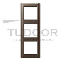 Рамка тройная для горизонтального / вертикального монтажа, мокка