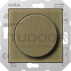 Светорегулятор поворотный 60-600 Вт. для ламп накаливания и галог.220В, бронза