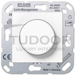 Светорегулятор для светодиодных LED ламп 3-100 Вт, универсальный, 20-400 Вт ламп накаливания и галогенных, пластик белый глянцевый