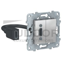 Розетка для подключения кабеля HDMI, алюминий