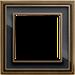 Рамка Dynasty (античная латунь / черное стекло)