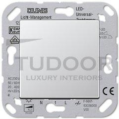 Светорегулятор клавишный универсальный 50-420 Вт. для ламп накаливания и галог.ламп 230В, пластик под алюминий