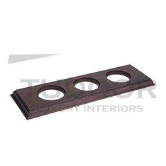 Рамка тройная для механизмов внутреннего монтажа (прямоугольник), венге