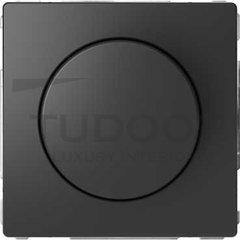 Светорегулятор поворотно-нажимной 60-400 Вт для ламп накаливания и галогенных 220В, антрацит