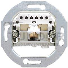 Механизм 1-постовой телефонной розетки 8 полюсов RJ 11/12; RJ 45; ISDN, категория 3