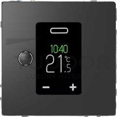 Термостат сенсорный программируемый 230 В~ 8А с выносным датчиком, для электрического подогрева пола, антрацит