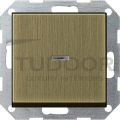 Выключатель одноклавишный с подсветкой, универс. (вкл/выкл с 2-х мест) 10 А / 250 В, бронза