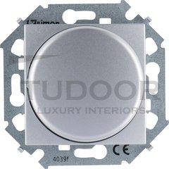 Светорегулятор поворотно-нажимной 40-500 Вт. для ламп накаливания и галог.220В, алюминий