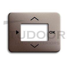 Плата центральная (накладка) для таймера 6455, 6456, серия alpha exclusive, цвет палладий