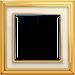 Рамка Dynasty (полированная латунь / белое стекло)