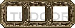Рамка тройная, для горизонтального/ вертикального монтажа, блестящая патина