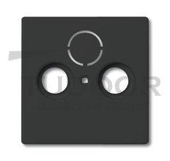 Накладка (центральная плата) для TV-R-SAT розетки, серия solo/future, цвет антрацит