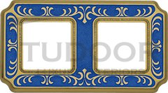 Рамка двойная, для горизонтального/ вертикального монтажа, голубой сапфир