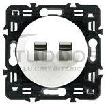 Выключатель, переключатель двухклавишный типа рычажок, (вкл/выкл с 1-го и 2-х мест) 6 А / 250 В, белый