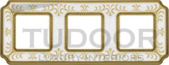 Рамка тройная, для горизонтального/ вертикального монтажа, жемчужно-белый