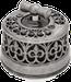 Клавиша Овал наружный монтаж (чёрный с декоративной накладкой под серебро)