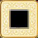 Рамка Emporio (светлое золото/белая патина)
