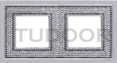 Рамка двойная, для горизонтального/ вертикального монтажа, блестящий хром