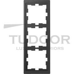 Рамка тройная, для горизонтального/ вертикального монтажа, антрацит